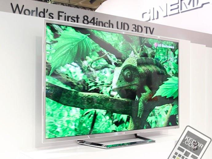 World's First 84inch UD 3D TV