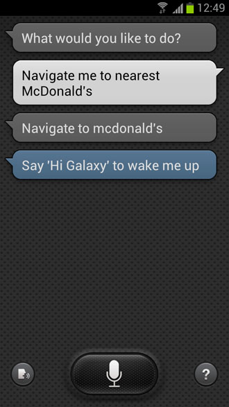 Navigate me to nearest McDonald's - S Voice