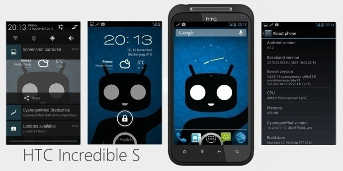 CyanVivo X для HTC Incredible S