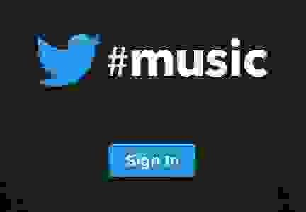 Twitter music login sign up