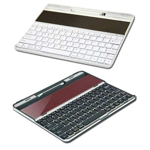 Solar Charger Cover Case Bluetooth Wireless Keyboard for Apple iPad
