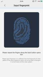 BBK VIVO Xplay 3S - Input Fingerprint