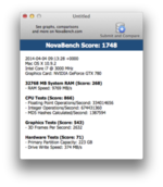 Hackintosh - NovaBench score